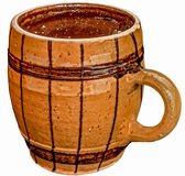 Clay coffee cup Royalty Free Stock Images