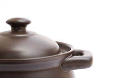 Clay cooking pot Royalty Free Stock Image