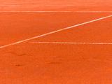 Clay court Royalty Free Stock Image