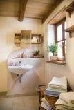 Clay courtyard bathroom royalty free stock image