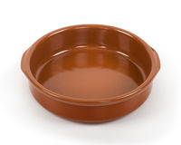 Clay cup isolated Stock Photo