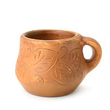 Clay cup Stock Photography