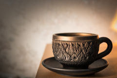 Clay cup sculpture Stock Image