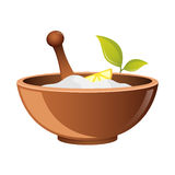 Clay in cup for Spa vector icon for web. Bowl for cosmetics. Natural Pharmacy symbo. natural cosmetic icon Stock Photos