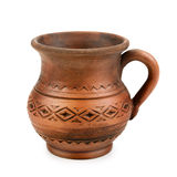 Clay cup Royalty Free Stock Photo