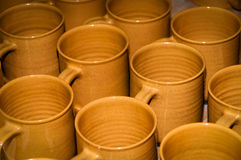 Clay Cups Royalty Free Stock Photography