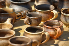 Clay cups Stock Photography