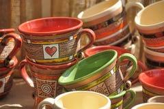 Clay cups Stock Photos