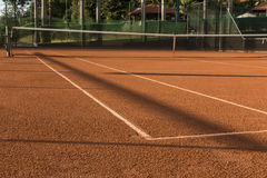 Clay (Dirt) Tennis Court. Stock Photo