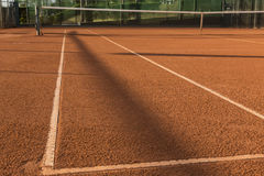Clay (Dirt) Tennis Court. Royalty Free Stock Images