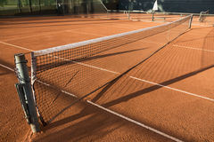 Clay (Dirt) Tennis Court. Royalty Free Stock Image