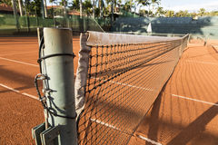 Clay (Dirt) Tennis Court. Stock Images
