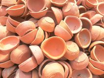 Clay diyas Royalty Free Stock Images