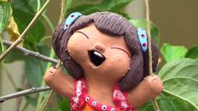 Clay doll ceramic Royalty Free Stock Photo