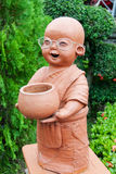 Clay doll  monk Royalty Free Stock Photo