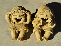 Clay Dolls Royalty Free Stock Images
