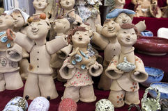 Clay Dolls Arkivfoto