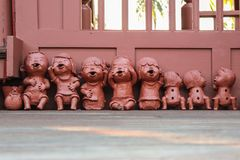 Clay Dolls Stockbild