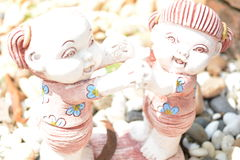 Clay Dolls Lizenzfreie Stockfotos