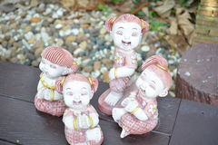 Clay Dolls Stockfotos