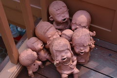 Clay Dolls Immagini Stock