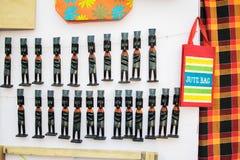 Clay dolls, handicraft items on display , Kolkata Royalty Free Stock Photography