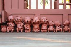 Clay dolls Stock Image