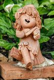 Clay Dolls Used For Garden Decoration. Royalty Free Stock Images