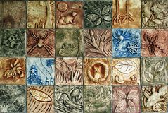 Clay environment mosaic Royalty Free Stock Photos