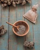 clay for the face, care cosmetics stock photography