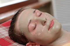 Clay face pack Stock Images