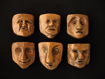 Clay faces Stock Image