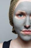 Clay facial mask Stock Image