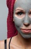 Clay facial mask Stock Photo