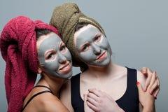 Clay facial mask Royalty Free Stock Image