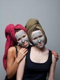 Clay facial mask Royalty Free Stock Photo