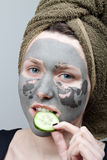 Clay facial mask Royalty Free Stock Photography