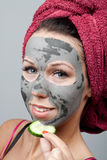 Clay facial mask Royalty Free Stock Photos