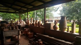 Clay factory kumasi - Ghana. Traditional of Africa Royalty Free Stock Photography