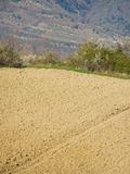 Clay field countryside Stock Photography