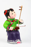 Clay figure of Asian Girl Playing Music Royalty Free Stock Photos