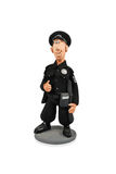 Clay figure of a policeman Royalty Free Stock Images