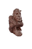Clay figure. Strange clay sitting imp figure Royalty Free Stock Photos