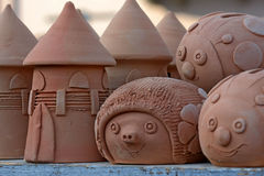Clay figures Stock Photography