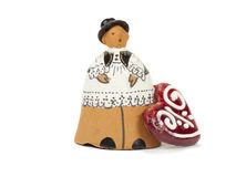 Clay figures in Serbian national costume Royalty Free Stock Photo