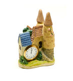 Clay figurine of castle Royalty Free Stock Images