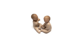Clay figurines of children Royalty Free Stock Photography