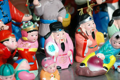 Clay figurines of chinese myth role Royalty Free Stock Image
