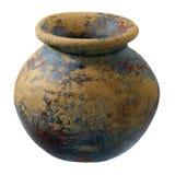 clay finish plant pot rough small Στοκ εικόνα με δικαίωμα ελεύθερης χρήσης
