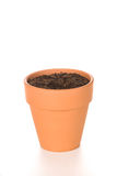Clay Flower Pot with Soil Stock Photos